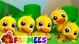 Five Little Ducks | Childrens Song For Kids | Nursery Rhyme For Baby by Farmees - YouTube
