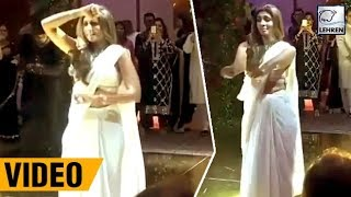Watch Swetha Bachchan's funny dance at niece's wedding..