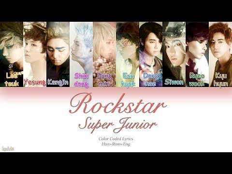 Super Junior (슈퍼주니어) – Rockstar (Color Coded Lyrics) [Han/Rom/Eng]