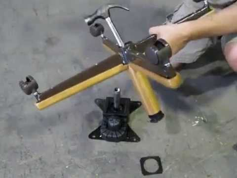 How To Replace Chromcraft Caster Chair Plastic Bushing On