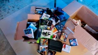 Gamestop Dumpster Dive finds: Controllers, Xbox 360 games, cases #8 (2013)