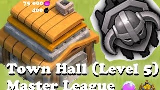 Clash of Clans: TH5 IN MASTER LEAGUE! ☢EASY☢