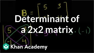 Finding the determinant of a 2x2 matrix