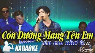 Con Đường Mang Tên Em Karaoke Phước Khanh (Tone Nam) | Nhạc Vàng Bolero Karaoke