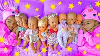 Night routine de Las Ratitas con sus bebés que juegan con la cuna nenuco