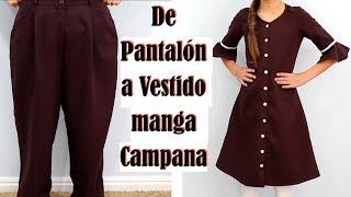 De Pantalón Grande a Vestido Manga Campana