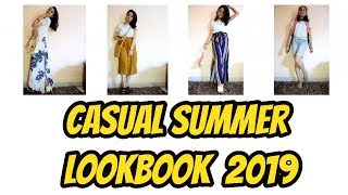 how i style: basic white t-shirt / casual summer outfit ideas 2019 /  summer lookbook for girls