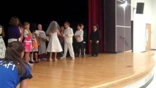 Two fourth graders get married