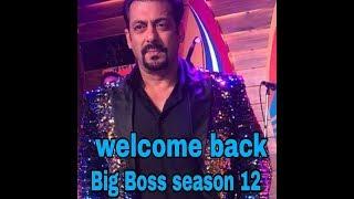 Welcome back BIG BOSS SEASON 12