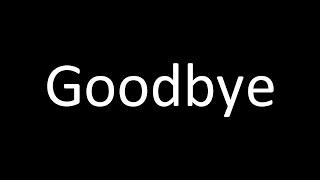 goodbye Mia...