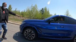 BMW X6M vs Lamborghini Urus vs Jeep trackhawk Drag Race, Roll race