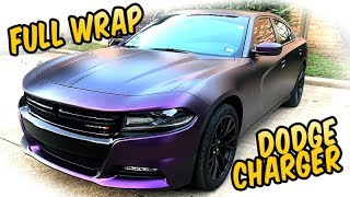 Full wrap Black Purple - 2017 Dodge Charger