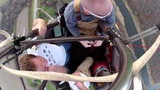 Vol en montgolfière filmé avec gopro