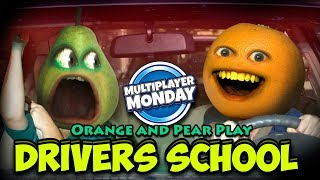 Annoying Orange and Pear play Driving Simulator 2017 [Multiplayer Monday]
