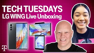 LG Wing Live Unboxing! | Tech Tuesdays Ep. 6 | T-Mobile