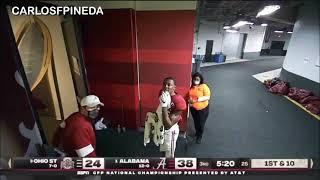 DeVonta Smith heads into locker room Alabama vs Ohio State