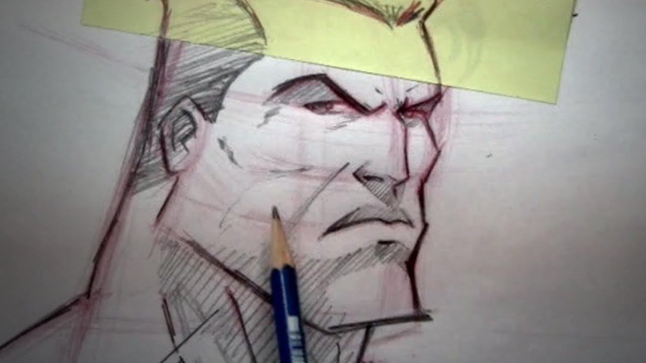 How To Draw Superhero Head - Teaser - YouTube