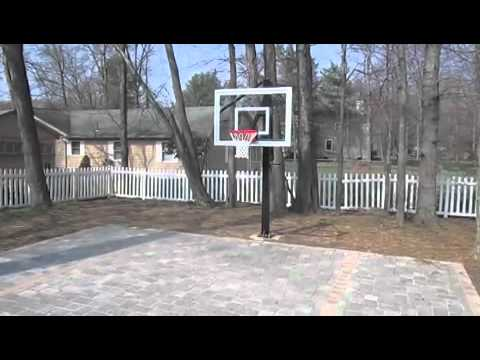 Brick Paver Backyard Basketball Court Youtube