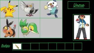 Ash's pokemon! (gen 1 - gen 6)