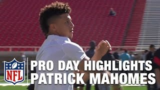 Patrick Mahomes Pro Day & Analysis | NFL Network | Path to the Draft