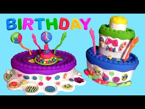 Play Doh Cake Mountain Playset Sweet Shoppe Birthday Cake Montaña de Pasteles Torta de Cumpleaños