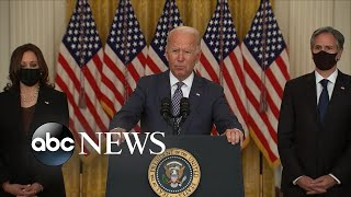 President Biden answers press questions on Afghanistan l ABC News
