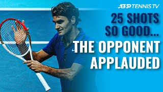 25 Tennis Shots SO GOOD the Opponent Had to Applaud 👏