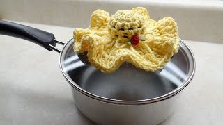 CROCHET How to #Crochet Tiny Hat Pot Holder #TUTORIAL #225 LEARN CROCHET DYI
