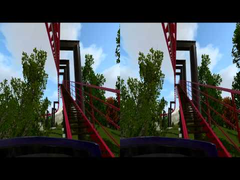 3D Rollercoaster: Vampire Bat (3D for PC/3D phones/3D TVs/Crossed Eyes)
