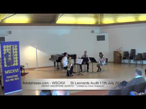 WSCXVI EBONIT SAXOPHONE QUARTET   Untitled by Chris Chamoun