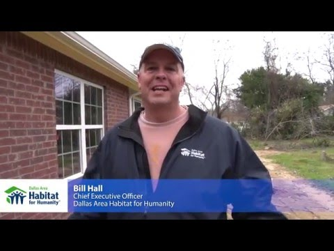 Bill Hall, CEO of Dallas Area Habitat for Humanity, discusses partnering with FHLB Dallas to construct a home for a Dallas family.