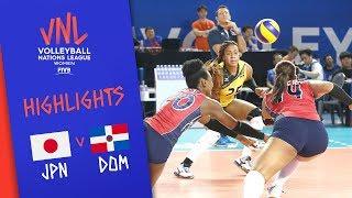 JAPAN vs. DOMINICAN REPUBLIC - Highlights Women | Week 5 | Volleyball Nations League 2019