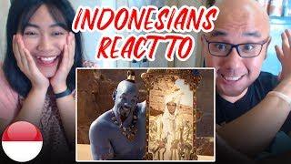 Indonesians React To ALADDIN OFFICIAL TRAILER   Will Smith, Naomi Scott, Mena Massoud