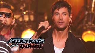 """Enrique Iglesias and Sean Paul Get the Crowd Going With """"Bailando"""" - America's Got Talent 2014"""