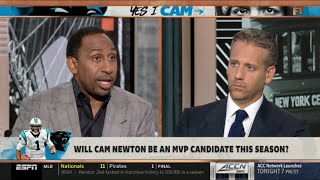 ESPN FIRST TAKE | Stephen A. Smith & Max DEBATE: Will Cam Newton be an MVP candidate this season?