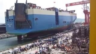 Official: Launching Car Carrier 4900 units at Hạ Long Shipyard (Vinashin) (CR4900_HL02)