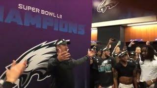 Doug Pederson pumps up Eagles locker room after win over Patriots in Super Bowl LII   ESPN
