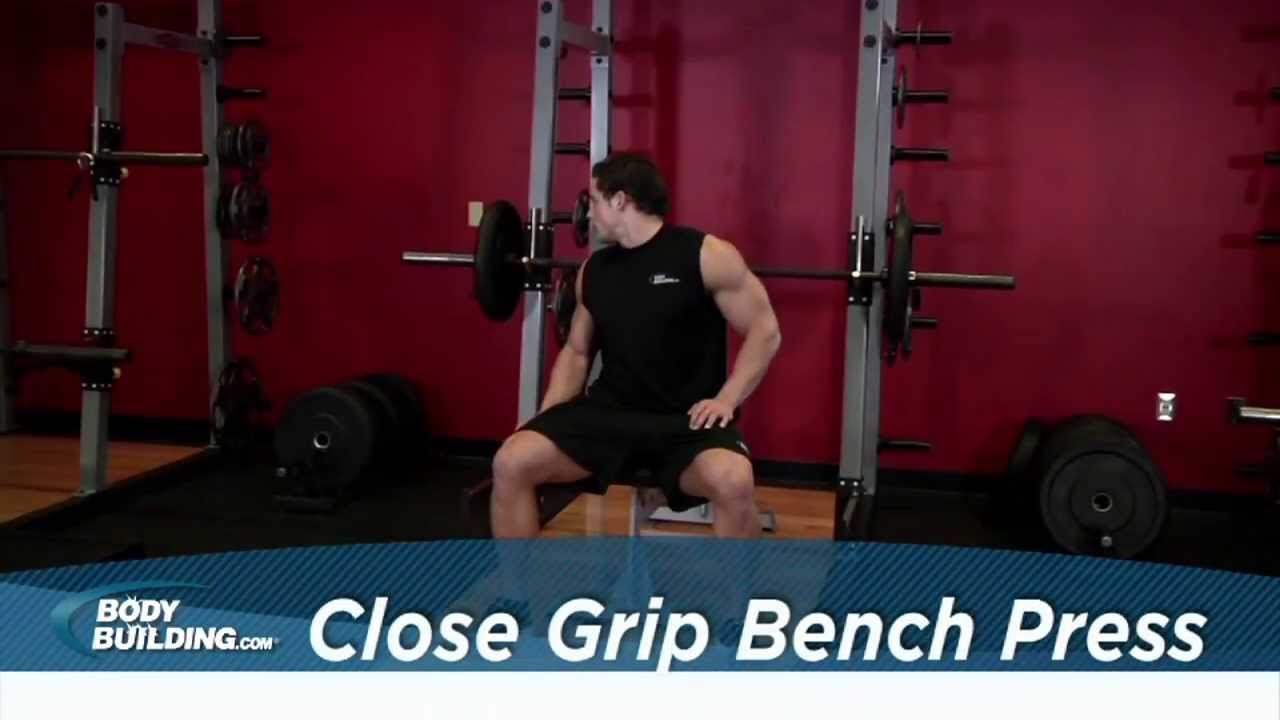 Close Grip Bench Press Tricep Chest Exercise