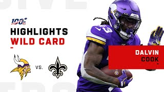 Dalvin Cook Scores Twice vs. Saints | NFL 2019 Highlights