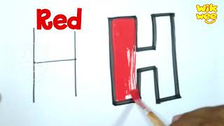 Learn Drawing Alphabet Colors for Kids Toddlers Children Nursery Rhymes Humpty Dumpty Sat On A Wall