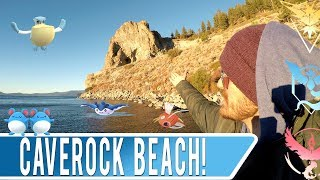 DESTINATION POKEMON GO! Caverock Beach in South Lake Tahoe California Travel Vlog & Gameplay