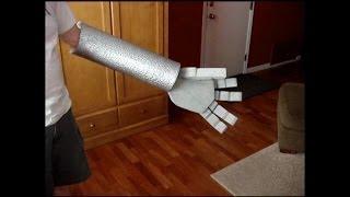 Halloween robot costume hand how to