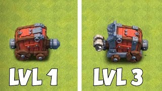 """TEST YOUR MIGHT!! """"Clash Of Clans"""" MAX LVL 3 & LVL 1 WALL WRECKER"""