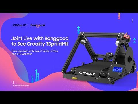 3DPrintMill for Endless Printing Upcoming on Kickstarter by #Creality #3D Printer