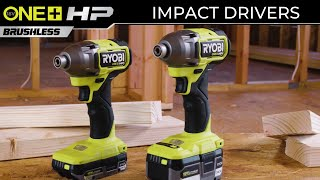 "Video: Taladro atornillador de impacto ONE+ HP de 1/4"", sin escobillas, 18 V"
