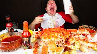 World's Spiciest Hot Sauce With King Crab • MUKBANG