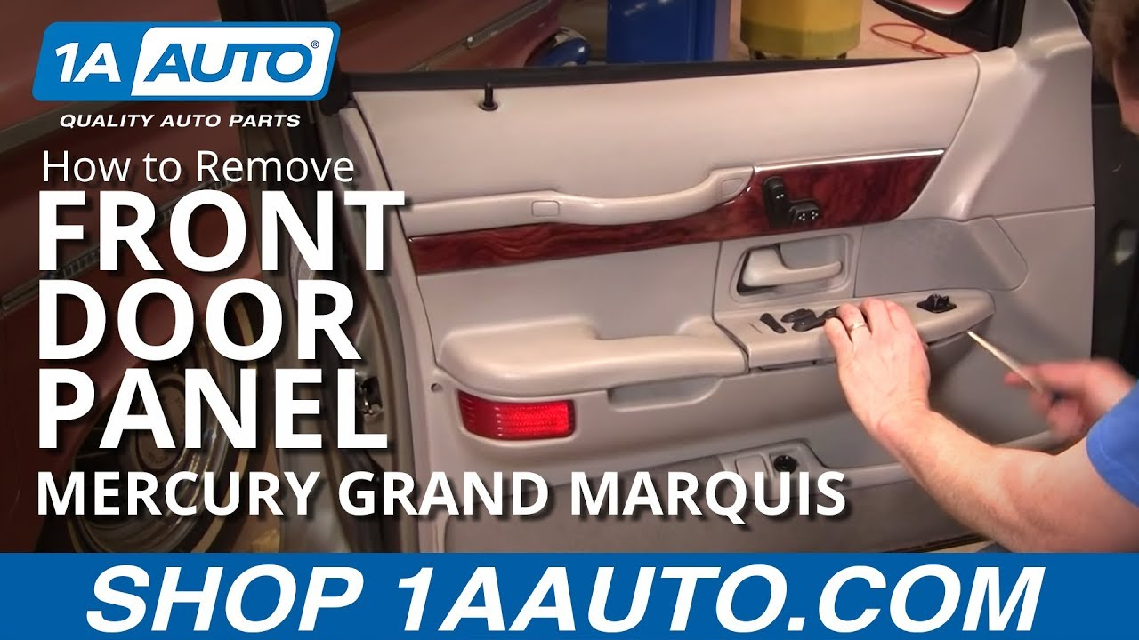 How To Install Replace Front Door Panel Mercury Grand