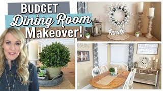 DINING ROOM MAKEOVER! || In ONLY 4 Hours and UNDER $200!