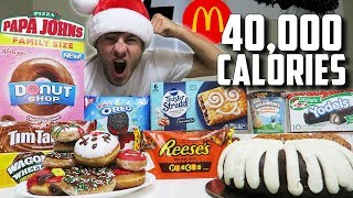40,000 CALORIE CHRISTMAS CHEAT DAY!