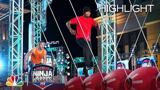 NE-YO's Ninja Warrior Run for Red Nose Day - American Ninja Warrior 2018